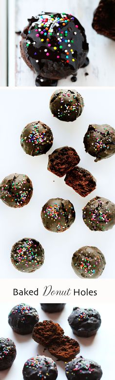 Chocolate Donut Holes with Chocolate Glaze... this is the BEST way to start the day! (also, you will not find a better chocolate donut recipe, promise!)