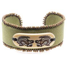 Tutorial - How to: Woodland Squirrels Bracelet Cuff #Jewelry | Beadaholique