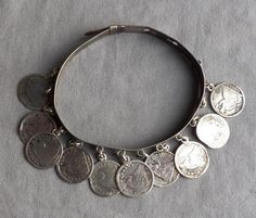 Vintage 1800's Antique Victorian Love Token Coin Bracelet