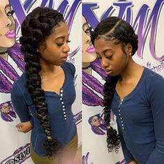 Braided Hairstyles For Black Women Cornrows, Black Ponytail Hairstyles, African Braids Hairstyles, Weave Hairstyles, Girl Hairstyles, Black Girl Prom Hairstyles, Amazing Hairstyles, Hairstyles Pictures, Baddie Hairstyles