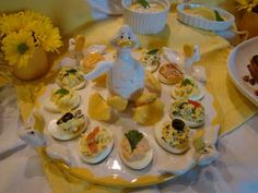 French Deviled Eggs are great for a party and so easy. So take them the next time you are heading out to a party. They will be a hit. #GottoBeNC #LocalDish