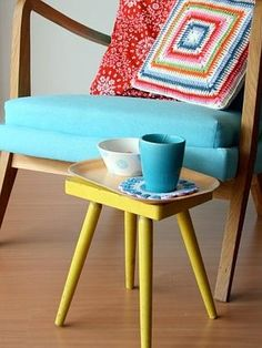 Handcrafted hipster homewares — just the thing to brighten up your retro furniture.