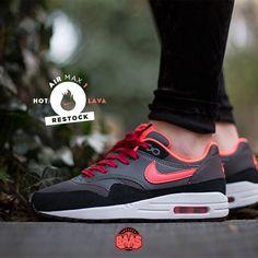 "#nike #nikeairmax #nikehotlava #airmax #sneakerbaas #baasbovenbaas  Nike Air Max 1 GS ""Hot Lava"""" - RESTOCK, priced at € 94,95  For more info about your order please send an e-mail to webshop #sneakerbaas.com!"