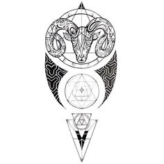 One of the most well-known ram tattoo designs is associated with Aries. Leg Tattoos, Body Art Tattoos, Sleeve Tattoos, Tattoos For Guys, Aries Zodiac Tattoos, Capricorn Tattoo, Widder Tattoo, Ram Tattoo, Calf Tattoo Men