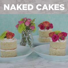 DIY Mini Naked Cakes