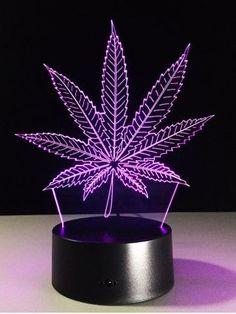 It/'s 420 somewhere marijuana weed pot leaf cannabis dope retro high decor Battery Operated bottle light Jar  Nightlight accent light lamp