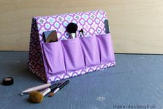 """Sew a fabric binder that folds into an """"A"""" shaped frame and has pockets. Perfect for storing everything!"""