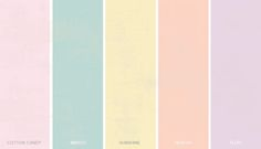 Shabby chic color palett