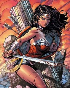 Wonder Woman  Art by David Finch  #DC #DCEU #DCComics #DCUniverse #Comics #New52 #Rebirth #JL #JusticeLeague #Superman #Batman #WonderWoman #GreenLantern #Flash #Aquaman #Cyborg