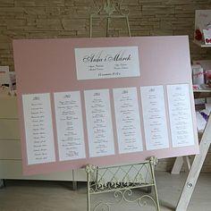 Znalezione obrazy dla zapytania tablica ślubna z listą gości