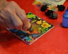 What can alcohol inks be used for? This tutorial shows you how easy and beautiful it is to make alcohol ink tiles, to become pieces of art or coasters!