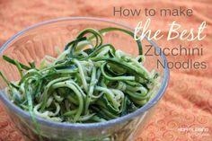 How to make the best zucchini noodles