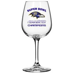 Baltimore Ravens Super Bowl XLVII Champions 12oz. Wine Glass