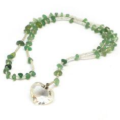 Sacred Heart Aventurine Necklace | John of God Necklace | I am love. I am light. I am healed
