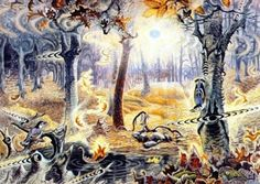 """""""Autumnal Fantasy"""" by Charles E. Burchfield (1916--44)"""