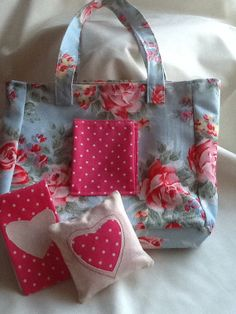 Little tote craft bag in Cath Kidston fabric with by Cherrypoppets, £12.00