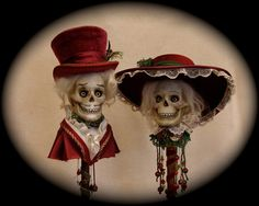 A Christmas Past Day of the Dead by SirCedricsGoodHeads on Etsy, $450.00