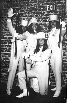 Black Sabbath in white tuxedos, rented for their first run at Whisky a Go Go on Hollywood's Sunset Strip, Nov. 11-15, 1970.
