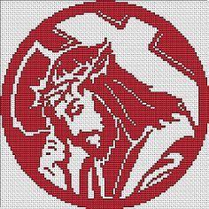 Jesus free cross stitch pattern