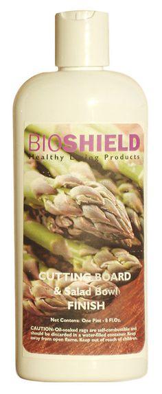 Bioshield Cutting Board and Salad Bowl Finish - Non-Toxic, All-Natural Food Grade Oil Wax - Green Building Supply