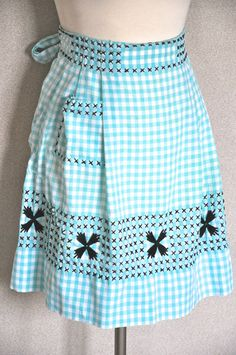 Cross Stitch Apron. I remember making one of these in red gingham my first year in 4H when I was nine.  Good memories.