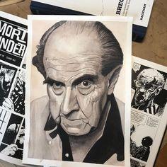 """Graphik H / H1987 on Instagram: """"Portrait d'#AlbertoBreccia - ( Mine de plomb et aquarelle ) 210 mm x 297 mm  ________________  Suivez-moi sur :  Blog -…"""""""