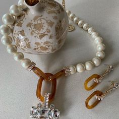Pearl Necklace, Jewellery, Pearls, String Of Pearls, Jewels, Schmuck, Pearl Necklaces, Beaded Necklace, Beading