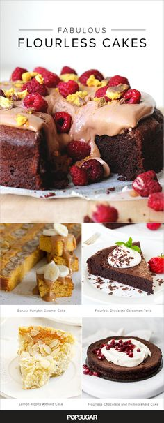 Whether you're on a gluten-free diet or just looking to expand your baking repertoire, flourless cakes are a category of dessert absolutely worth exploring. Keep reading for our top picks, including a light-as-air chocolate cloud cake, its ultrarich chocolate-cardamom cousin, and even a few nonchocolate options like a melt-in-your-mouth lemon ricotta almond cake.