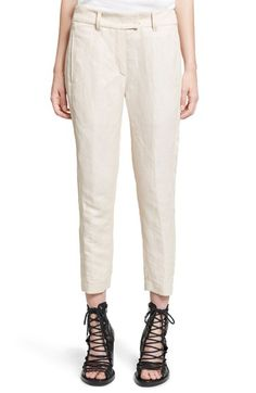 ANN DEMEULEMEESTER Twill Ankle Pants. #anndemeulemeester #cloth #