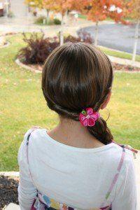 Double-Twist into Side Braid.  Little girl hair tutorial.