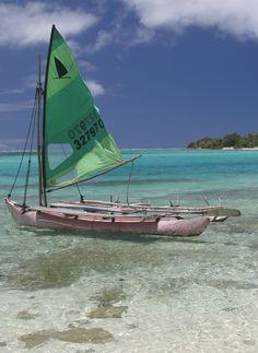 South Pacific sailboat, Mystery Island, Vanuatu