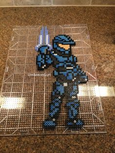 Halo Soldier Perler Bead Art by UmbreonGurl.deviantart.com on @DeviantArt