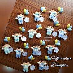 Ali Kağan için keçe balonlu bebek magnetler hazırladım.Keçe,bebek şekeri,kapı süsü,magnet,felt,feltros,handmade,