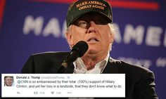 NEW YORK... Trump criticizes CNN on Twitter after retweeting supporters' claims about voter fraud   Daily Mail Online