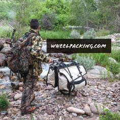 Honey Badger Wheel   Hiking Carts for Backpacking, Hunting, and Bug Out Preppers