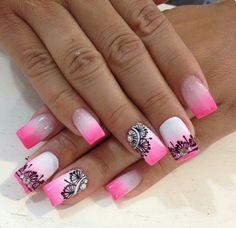 Nails, Beauty, Mandalas, Finger Nails, Ongles, Nail, Cosmetology, Nail Manicure