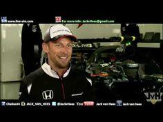 Formula 1 Sky Sports Interview Simon Lazenby with Jenson Button