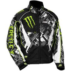 Love the Tucker Hibbert Monster Energy Replica Jacket from Castle X! Monster Energy Gear, Monster Energy Clothing, Fox Racing Clothing, Snowmobile Clothing, Best Energy Drink, Energy Drinks, Clary Y Jace, Rock Star Outfit, Jacket Style