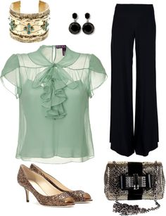 Piano Bar Outfit, created by callie1121 on Polyvore