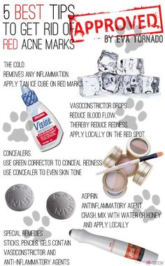 Makeup Hack   Here are some great tips to get rid of red acne marks. #DIYReady DIYReady.com