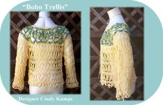 TWO Fall BOHO Tops Crochet Patterns by by crochetbayboutique