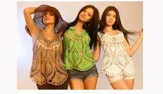 Maravillosas Blusas en crochet con paso a paso | Ganchillo
