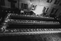 Long Estate Tables at Wedding   photography by http://www.cinziabruschini.it