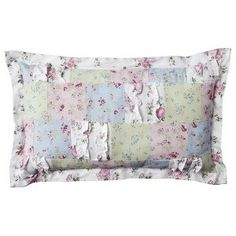 Simply Shabby Chic¨ Ditsy Patchwork Lumbar Decorative Pillow