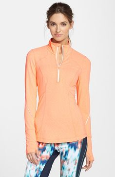 Zella 'My Run Layer' Half Zip Top available at #Nordstrom Workout Clothes for Women | SHOP @ FitnessApparelExpress.com