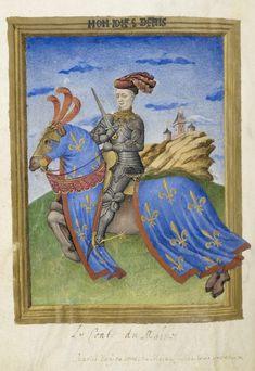 Armorial de Gilles le Bouvier BNF Fr4985 f75v.__#Charles IV d'Anjou(*1414…