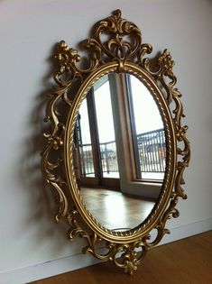 Massive Mid Century Hollywood Regency Syroco Gold Mirror to be painted white