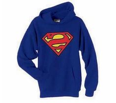 Hoodie: Superman - Logo Pullover Hoodie Size XL: Now you can feel super even in the dead of winter. This officially licensed Superman hooded sweatshirt features the classic shield logo on a royal blue cotton material. Superman Symbol, Superman Logo, Superman Outfit, Comic Clothes, Hooded Sweatshirts, Hoodies, Batman And Superman, Superman Stuff, Blue Hoodie