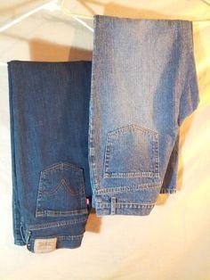 "Levi's & Sonoma Women's 2 Blue Jeans LOT 1 Stretch/1 Not- Sz 8 x30"" Inseam  #LevisandSonoma #BootCutstraightleg"