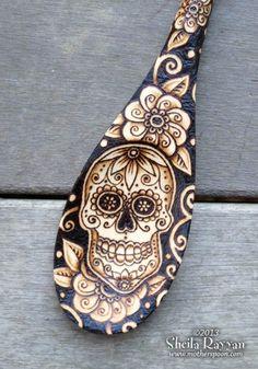 skull pyrography - Google Search